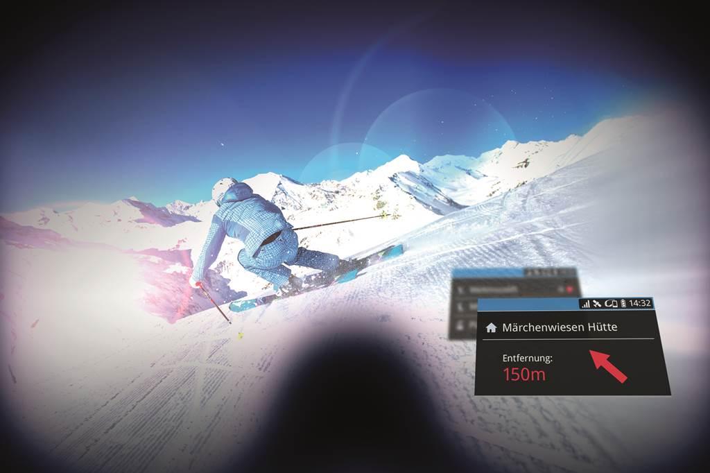 Okossíszemüveg használat közben Forrás: © Ski amadé