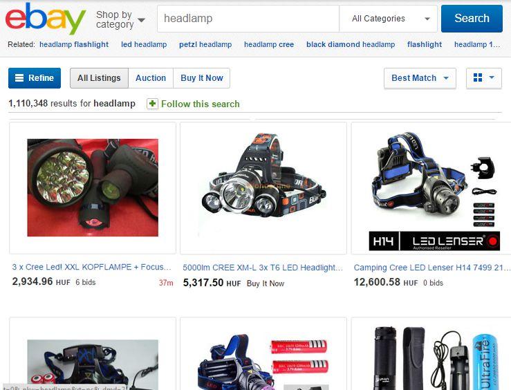 ebay Forrás: ebay.com