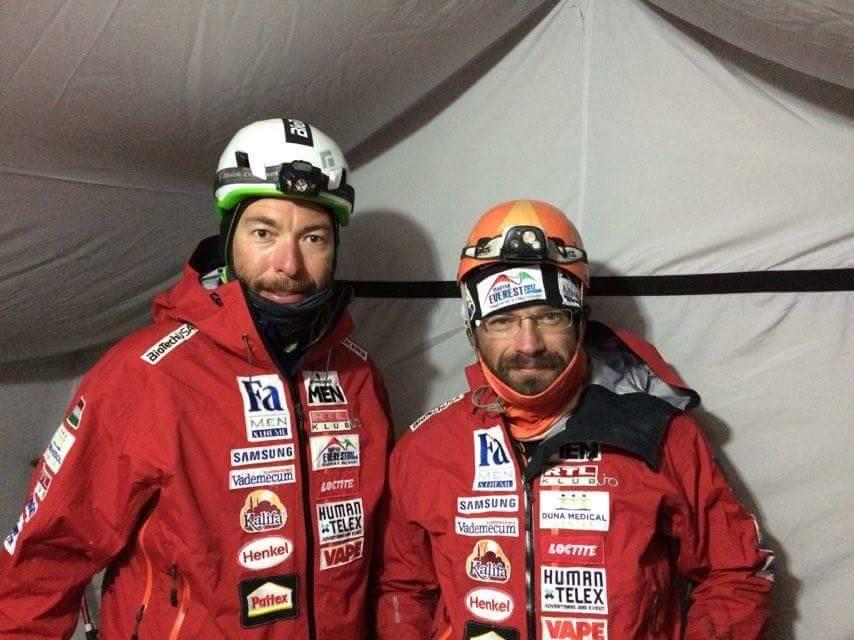 Szilárd és Dávid az utolsó akklimatizációs körre indulás előtt Forrás: Magyar Everest Expedíció 2017