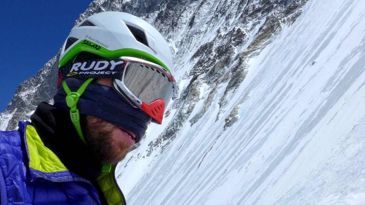 Suhajda Szilárd a Lhoce-falon a harmadik akklimatizációs kör során Forrás: Magyar Everest Expedíció 2017