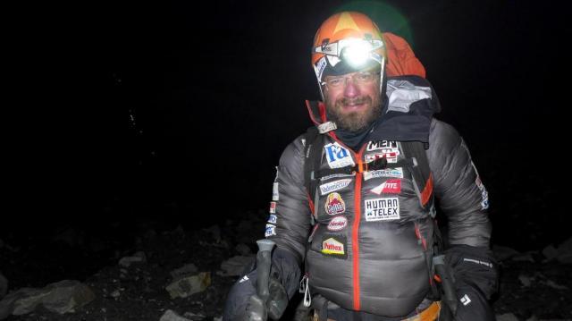 Klein Dávid a 2017-es Everest-csúcstmadás előtt Forrás: Everest Expedíció 2017