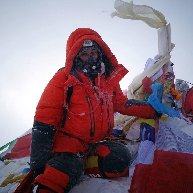 George Kashouh az Everest csúcsán Forrás: George Kashouh