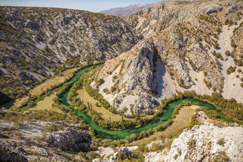 A Krupa folyó kanyonja Forrás: Turizmus.com