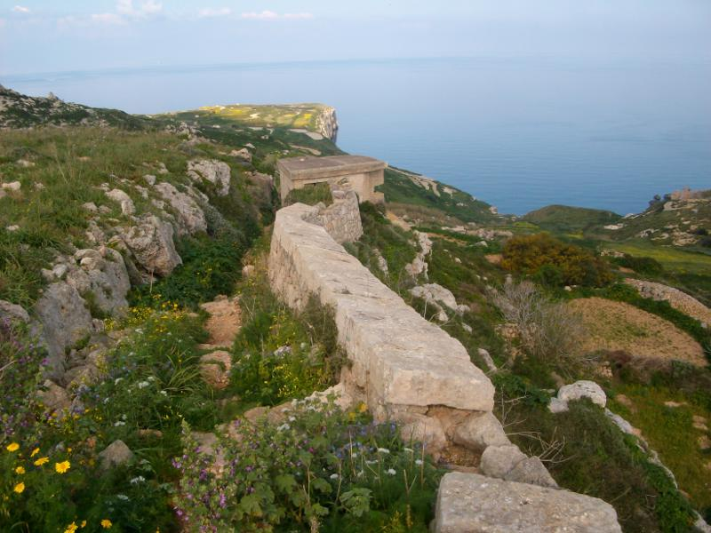 A Kuncizzjoni erőd a Victoria Lines első szakaszán Forrás: Victoria Lines Malta