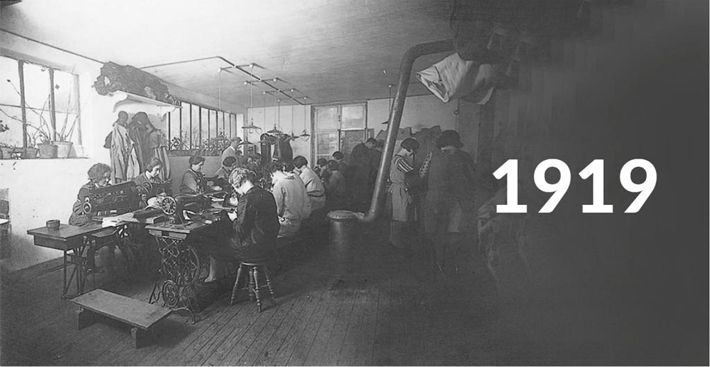 A Lazer gyár 1919-ben, Nivelles-ben, Belgiumban Forrás: www.paul-lange.hu
