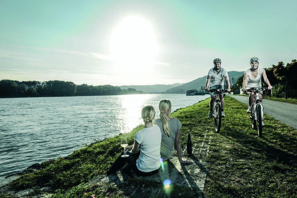 Duna menti kerékpárút Forrás: © Donau Niederösterreich / Steve Haider