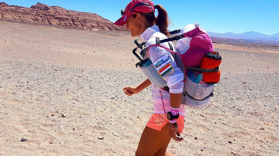 Lubics Szilvi az Atacama sivatagban Forrás: Lubics Szilvi facebook