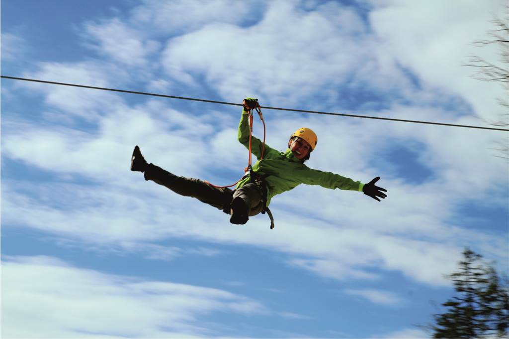 Zip-line Forrás: Sport in Turizem