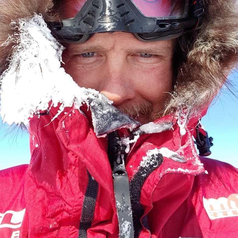 Rakonczay Gábor jeges szelfi Forrás: Magyar Déli-sark Expedíció