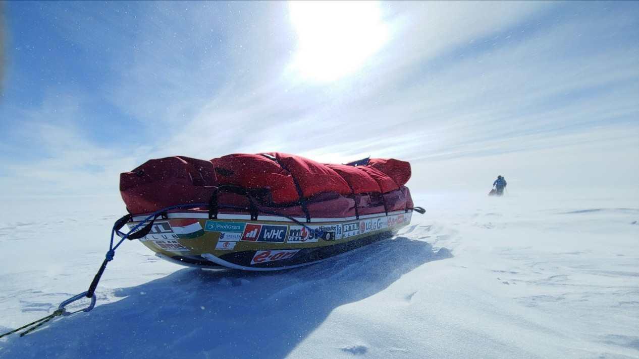 A nap egyelőre elég ritkán süt ilyen szépen Forrás: Magyar Déli-sark Expedíció