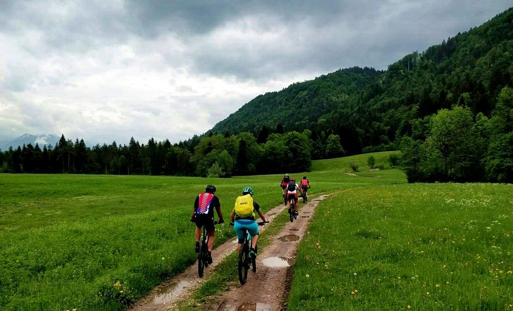 A Bledtől délre eső fennsík kellemes kerékpáros ösvényeket tartogat Forrás: Mozgásvilág.hu