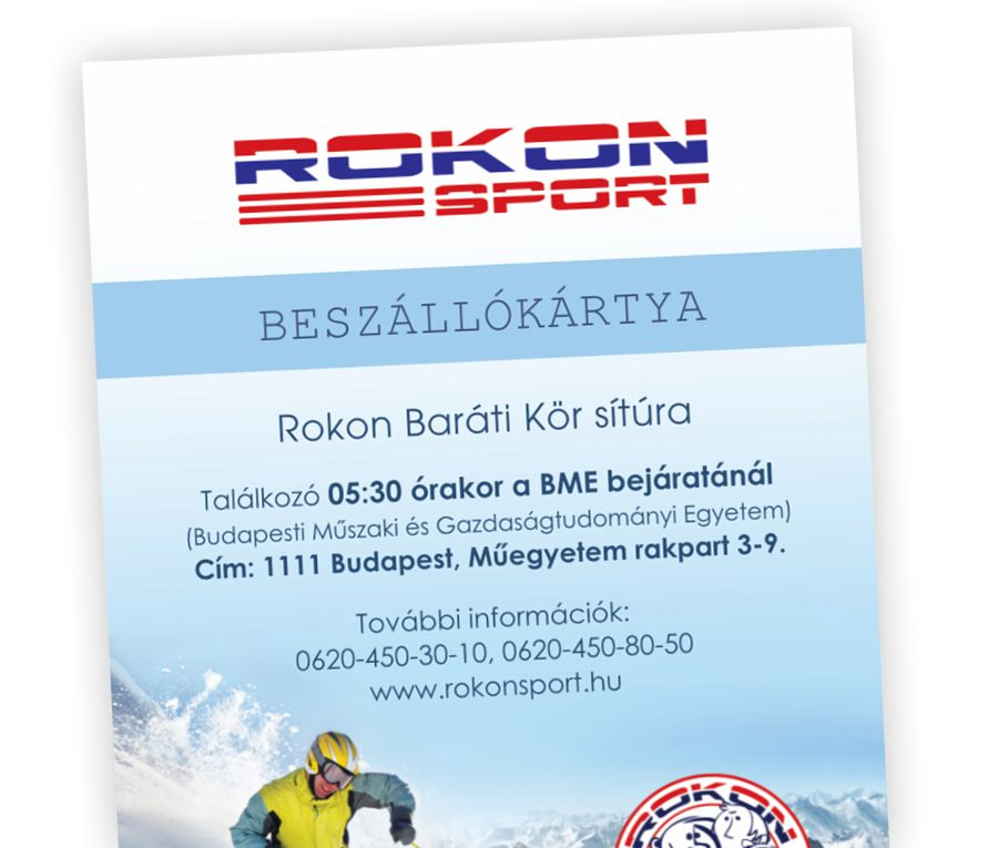 RokonSport beszállókártya