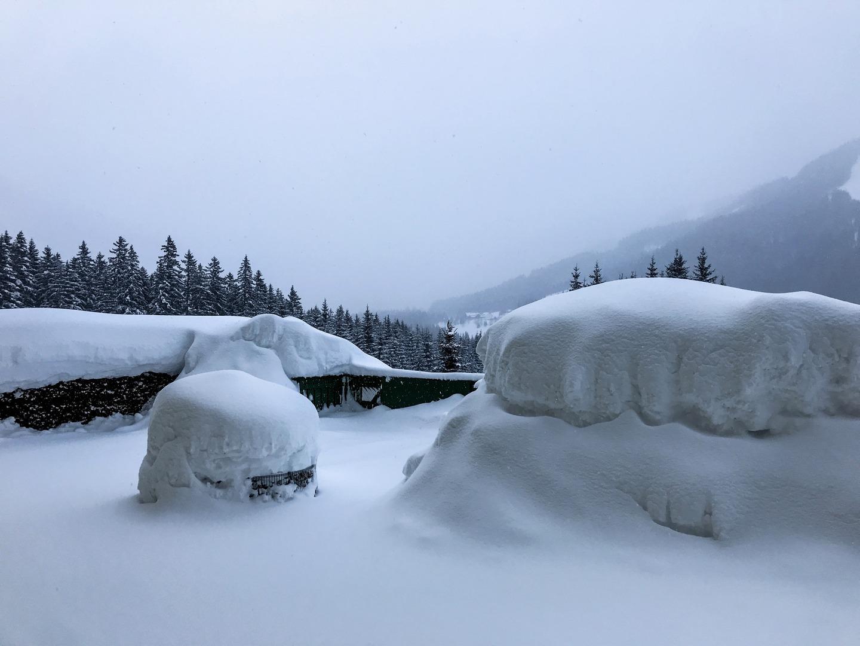 Hotel Sonnhof Hohentauern a hó fogságában Forrás: Hotel Sonnhof Hohentauern