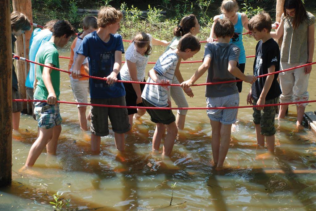Határvidék Élményösvény úszó híd Forrás: www.burgenland.info