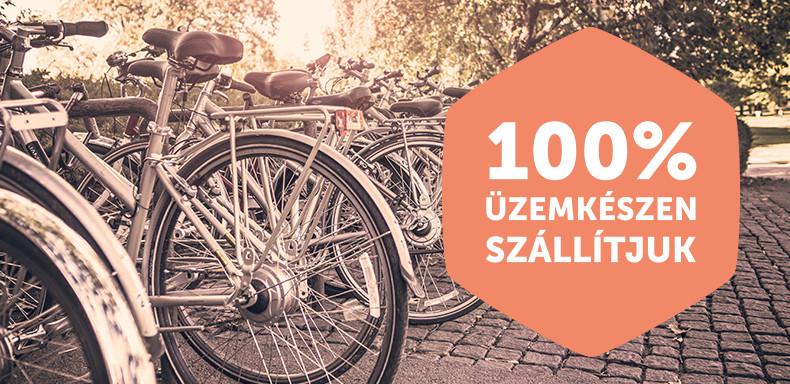 100% üzemkészen szállítjuk Forrás: biciklikk.hu