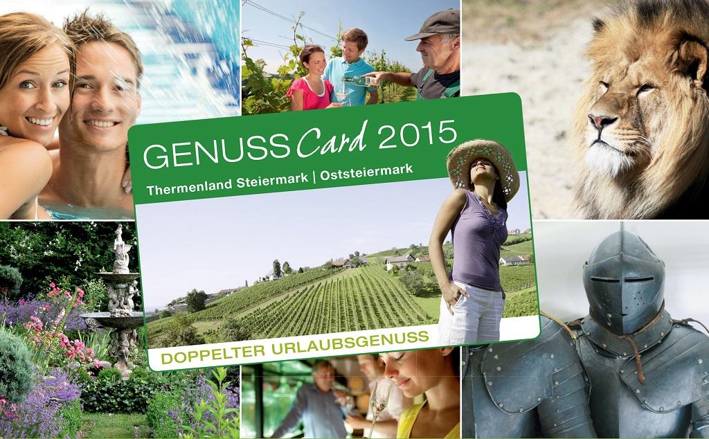 GenussCard előnyök - több, mint 120 úti cél Forrás: (c) Tourismusregionalverband Oststeiermark