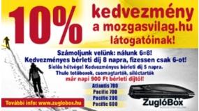 Zuglóbox-Tetőbox, síbox, síléctartó, tetőcsomagtartó | www.mozgasvilag.hu