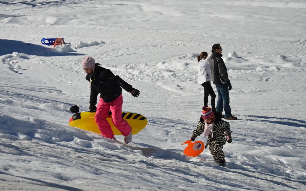 Szánkózási lehetőség közvetlenül a ház mellett Forrás: www.lenar.si
