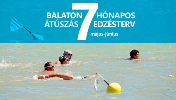 Balaton átúszás edzésterv III. (május - június)
