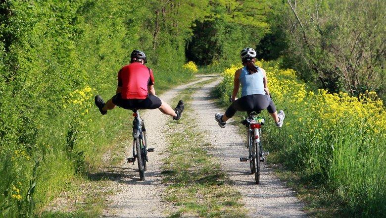 Pár a Traisental-kerékpárúton Forrás: (c) weinfranz.at