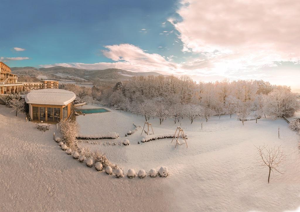 Tél a Retter hotelnél, a Pöllau-hegyen Forrás: (c) Hotel Retter