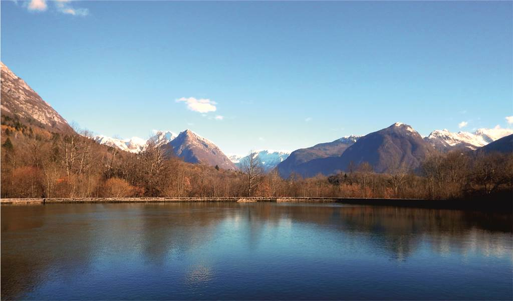 Bovec panoráma Forrás: Sport in Turizem